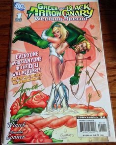 Green Arrow Black Canary 1 signed autographed comic Amanda Conner art cover DC comic-book best offer free shipping  on Etsy, $29.00