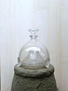 Antique Italian blown glass Flytrap '800s home decor door IdeeRetro, €125.00