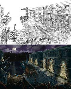 """Broken Sword II: The Smoking Mirror (Les Boucliers de Quetzalcoatl) """"dockside""""…"""