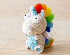 Crochet patrones de unicornio Corki de