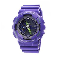 Women's Wrist Watches - Casio GShock Mens AnalogDigital Purple Resin Strap Watch >>> Be sure to check out this awesome product.