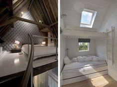 Продолжаем тему, как можно задействовать место под крышей или потолком. Подборка прекрасных спален-чердачков.