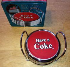 Coca-Cola Chrome Coaster Set