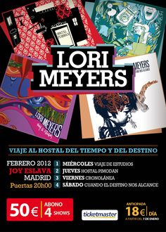 LORI MEYERS. Show 4 conciertos Joy Eslava.