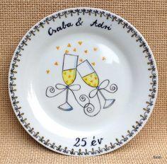 Ünnepeljünk! Dekoratív tányér évfordulókra #házasságiÉvforduló #ajándék #esküvő #évforduló