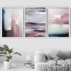 Set of 3 Abstract Navy & Blush Pink Art Prints – Artze Wall Art Pink Abstract, Abstract Wall Art, Blush Rosa, Blush Pink, Wall Art Prints, Poster Prints, Framed Prints, Wal Art, Orange Wall Art