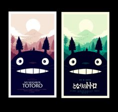 Designspiration — Olly Moss - I worked with Studio Ghibli and Mondo to create...