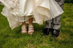 Ruffled Bridal Shoes - Photo Source • Photography by Susie