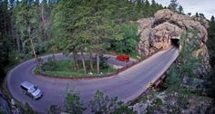 Twisting, turning Iron Mountain Road - one of America's most scenic drives.