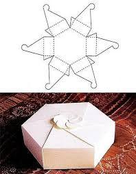 Resultado de imagem para molde de caixa de papel cartão
