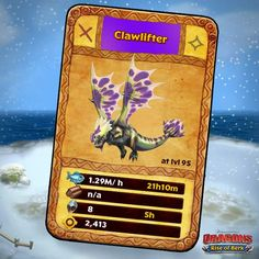 Dragons: Rise of Berk - Clawlifter card