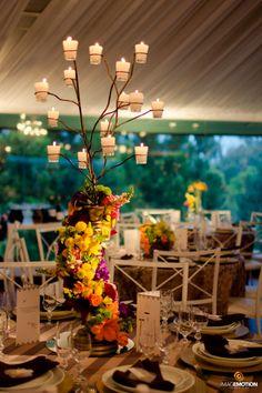 Casamento May & Rapha   Velas na mesa