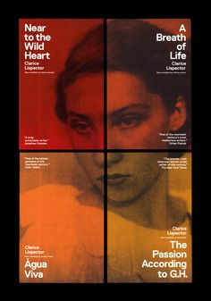 Clarice Lispector SeriesBook cover designs for new translations of Clarice Lispector's work.   CreditsArt Director: Paul Sahre, Erik RieselbachDesigned at The Office of Paul Sahre