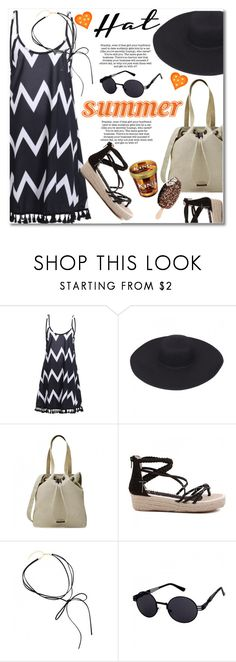 """""""Top It Off: Summer Hats"""" by svijetlana ❤ liked on Polyvore featuring Sanders, polyvoreeditorial, summerhat and twinkledeals"""