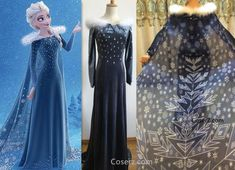 Olaf's Frozen Adventure Elsa Dress + Long Cape - Olaf's Frozen A – Coserz Princes Dress, Princess Tutu Dresses, Disney Dresses, Elsa Coronation Dress, Frozen Elsa Dress, Olaf Halloween Costume, Ariel Cosplay, Disney Cosplay, Disney Inspired Fashion