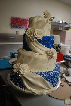 sAPPHIRE bLUE WEDDING CAKE   Flickr - Photo Sharing!