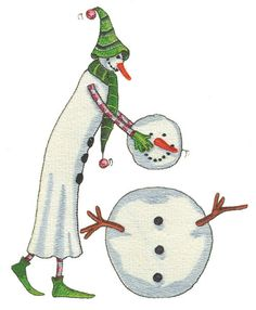 Shoply.com -Lollystick Build A Snowman Machine Embroidery Design in 4 sizes. Only $3.99