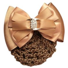TOOGOO(R) Ladies Hairnet Beige Rhinestone Inlaid Bowtie Hair Clip Snood Net  Snood Net Hair Clip  Constructed of bowknots accent, metal hair clip is for ladies.  With plastic rhinestone decor, it's a beautiful ornament for you to wear in daily life or important case.  Hair net design is convenient to keep hair in good condition.