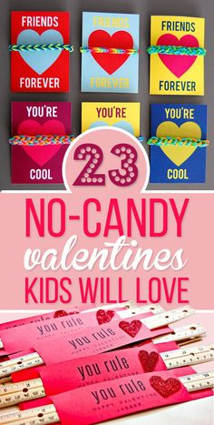 23 No-Candy Valentines Kids Will Love Even More Than Sugar Also good for party favours and Hallowe'en