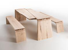 Broken: zerfasertes Holz-Design - Schönheit des Gebrochenen | tische ...