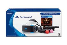 Includes: VR headset, Processor unit, VR headset connection cable, HDMI cable, USB cable, Stereo headphones, AC power cord, AC adaptor, PlayStation VR Demo Disc, PlayStation Camera, 2 PlayStation Move motion controllers Display: OLED 1920 X RGB X 1080,Screen Size: 5.7″,Refresh rate: 120 Hz, 90 Hz,Latency: Less than 18ms Games Come First – With gamers in mind, PlayStation delivers a new world of unexpected gaming experiences through PlayStation VR.