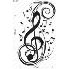molde de notas musicales - Google Search