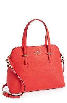Obsessed with this red satchel for work   Kate Spade