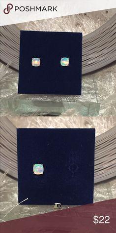 NWT Stud Earrings Sterling Silver 6MM Opal stud earrings. Jewelry Earrings