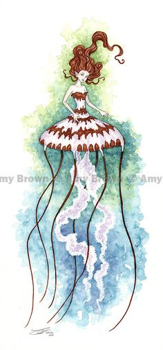 Jellyfish fairy Limited Edition Print by Amy Brown --- Love everything about this picture. So ethereal!