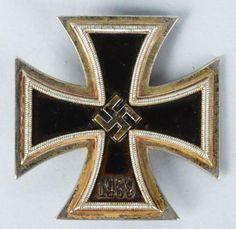 NAVAL KRIEGSMARINE 1ST CLASS IRON CROSS. Joachim Peiper, Military Awards, Military Decorations, World War Ii, Medal Honor, Wwii, Badge, Germany, Iron