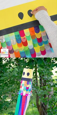Japanese Carp Kite Craft For Kids. Learning about Japan? Try this FREE Japanese Carp Windsock Art Project with your kids! These Koinobori (carp streamers) are hung all over Japan in celebration of Children's Day! What a fantastic project to try with yo Camping Crafts For Kids, Fall Crafts For Toddlers, Diy Crafts For Teens, Toddler Crafts, Summer Crafts, Children's Day Craft, Fun Craft, Art And Craft, Kites For Kids