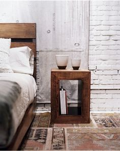 nice end tables for the master bedroom that would be easy to make.