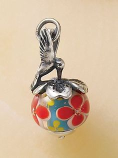 Hummingbird Finial With Floral Charm #JamesAvery