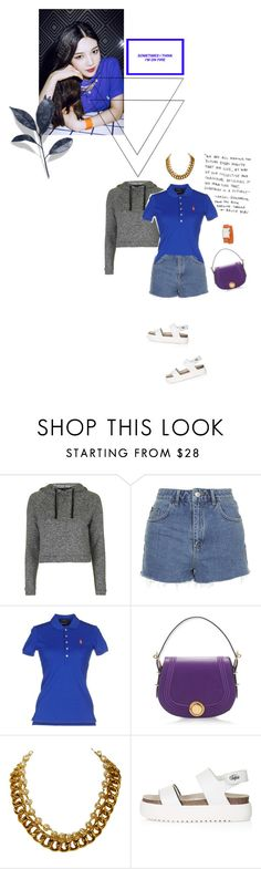 """Like watching the ""Thriller""..."" by lydiarts ❤ liked on Polyvore featuring Topshop, Polo Ralph Lauren, Bally, Chanel and Hermès"