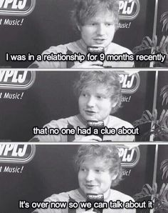 I actually think that its awesome because he basically just outsmarted the press :) GO ED!