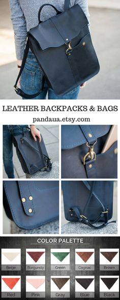 5dc970e3209 Man Leather backpack,Black Leather backpack,Black rucksack,Unisex backpack,custom  backpack,Backpack for women,Backpack gift for him