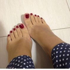 Feet fetish is the best of the bests, ^^ Check my Foot fetish page Black Toe Nails, Pretty Toe Nails, Pretty Toes, Red Toenails, Red Pedicure, Foot Pedicure, Feet Soles, Women's Feet, Pies Sexy