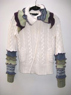 fab Upcycled sweater. love
