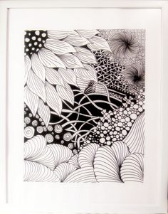 How To Do Zentangles Patterns | Zentangle Sunflower and Water Theme