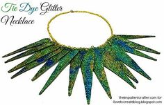 Tie Dye Glitter Necklace
