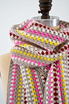 DIY: granny stripe scarf