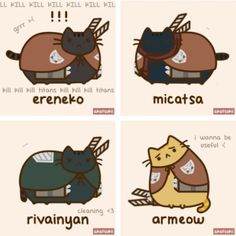 Attack on Titan and cats <3