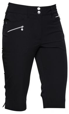"""Daily Sports Ladies 24"""" Outseam Knee Length Golf Shorts - Miracle (Black) at #lorisgolfshoppe"""
