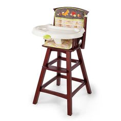 "Summer Infant Classic Comfort Wood High Chair - Babies ""R"" Us"