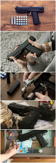 SALT is the world's most effective, non-lethal gun that fires powdered pepper spray capsules that burst upon impact. Effective from a distance of up to 150 feet!