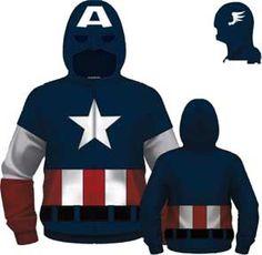 Captain America Cap A Fleece Costume Fleece Hoodie V5218MZ