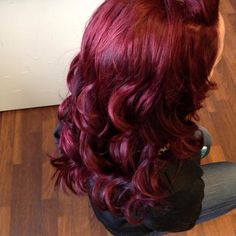 To make this color: L'oreal Excellence Hicolor, Red Magenta Highlights, 1.2 Ounce; PRAVANA ChromaSilk Creme Hair Color with Silk & Keratin Protein, 5.62 Light Red/Violet Brown; Pravana ChromaSilk Vivids Hair Color in Wild Orchid Punk Dye Halloween