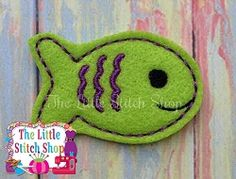 Fish Feltie - 2 Sizes! | What's New | Machine Embroidery Designs | SWAKembroidery.com The Little Stitch Shop