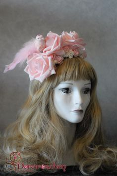 Pink bird lolita crown