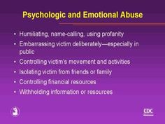 Psychological and Emotional Abuse